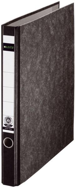 Leitz 1040 Ringordner, A4, Hartpappe, 2 Ringe, 35 mm, schwarz