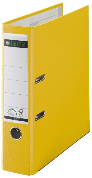 Leitz 1010 Ordner Plastik - A4, 80 mm, gelb