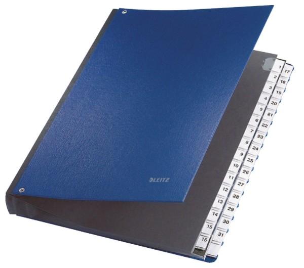 Leitz 5931 Pultordner 1-31, 32 Fächer, PP, blau