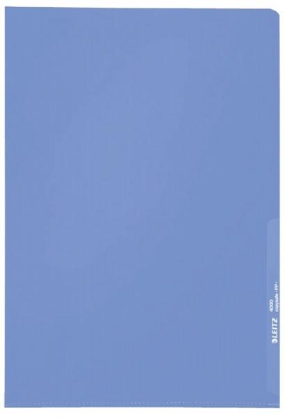 Leitz 4000 Standard Sichthülle A4 PP-Folie, genarbt, blau, 0,13 mm