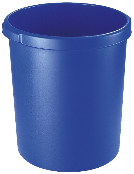HAN Papierkorb 30 Liter, rund, 2 Griffmulden, extra stabil, blau