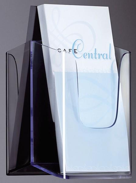 SIGEL Wand-Prospekthalter acrylic, mit 1 Fach, glasklar, für DL