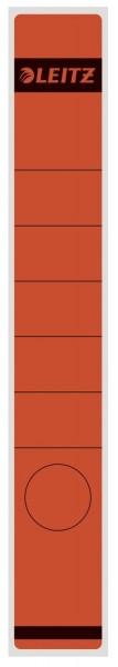 Leitz 1648 Rückenschilder - Papier, lang/schmal, 10 Stück, rot