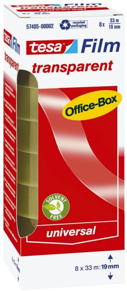 tesa® Klebefilm Office Box - transparent 8 St., Bandgröße (L x B): 33 m x 19 mm