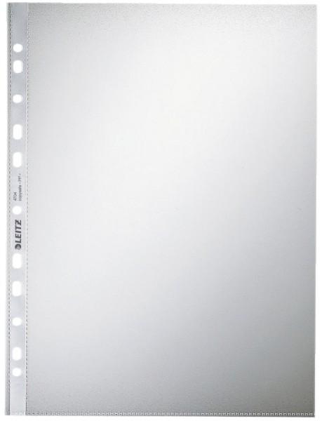 Leitz 4704 Prospekthülle Standard, A4, PP, genarbt, 0,10 mm, dokumentenecht, farblos, 100 Stück