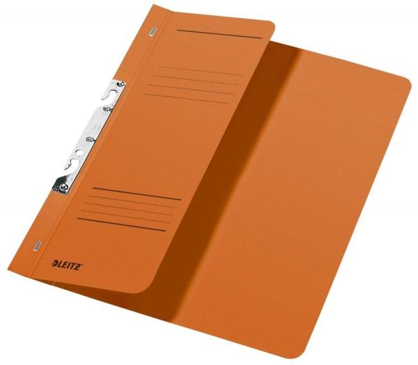 Leitz 3744 Schlitzhefter, 1/2-Vorderdeckel, A4, kfm. Heftung, Manilakarton 250 g/qm, orange