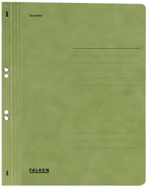 Falken Ösenhefter A4 1/1 Vorderdeckel, grün, Manilakarton, 250 g/qm
