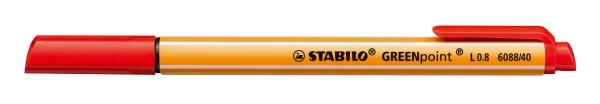 Stabilo® Faserschreiber GREENpoint®, 0,8 mm, blau