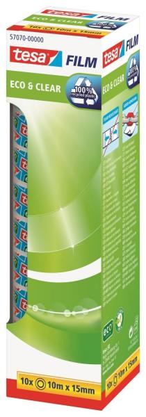 tesa® Eco & Clear Office Box - unsichtbar, Bandgröße (L x B): 10 m x 15 mm