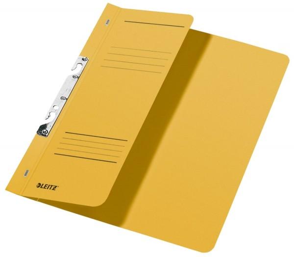 Leitz 3744 Schlitzhefter, 1/2-Vorderdeckel, A4, kfm. Heftung, Manilakarton 250 g/qm, gelb