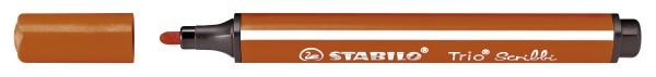 Stabilo® Dreikant-Fasermaler Trio® Scribbi - rot