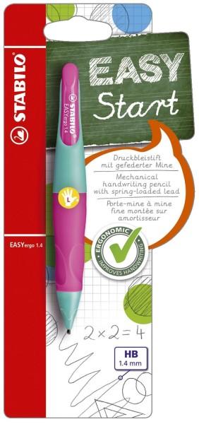 Stabilo® Ergonomischer Druckbleistift EASYergo 1.4, türkis/neonpink, L