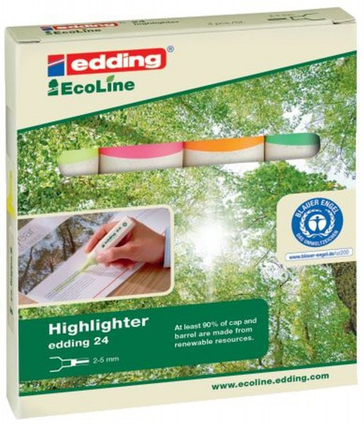 Edding 24 Textmarker Highlighter EcoLine - nachfüllbar, sortiert