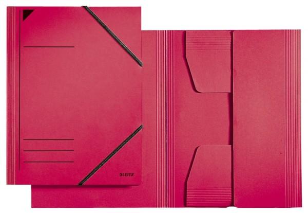 Leitz 3981 Eckspannermappe - A4, 250 Blatt, Pendarec-Karton (RC), rot