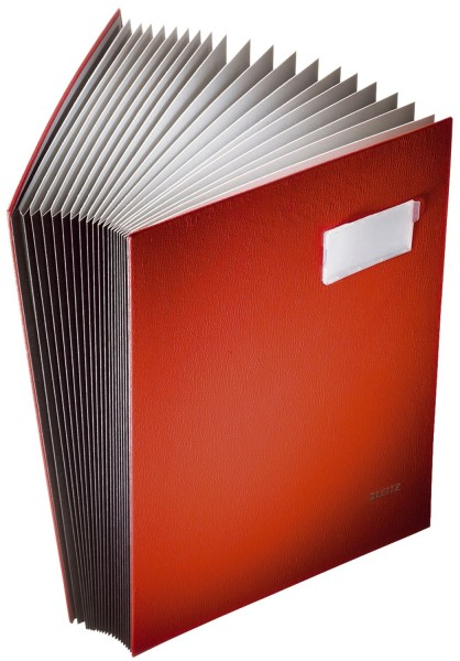 Leitz 5700 Unterschriftsmappe - 20 Fächer, PP kaschiert, rot