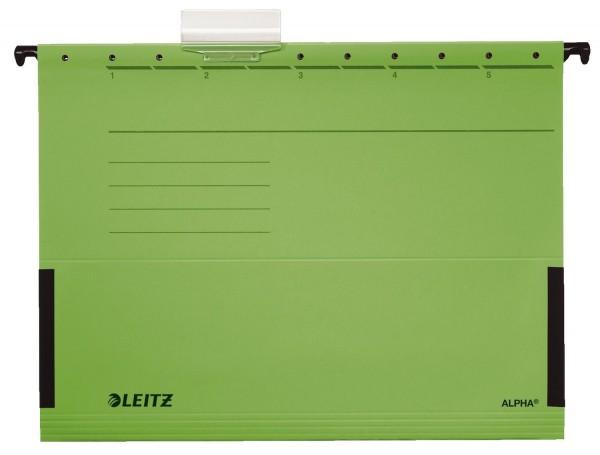 Leitz 1986 Hängetasche ALPHA® - seitlich mit Fröschen, Recyclingkarton, grün