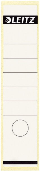 Leitz 1640 Rückenschilder - Papier, lang/breit, 10 Stück, weiß