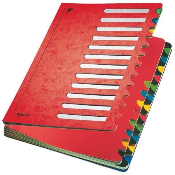 Leitz 5914 Deskorganizer Color 1-24 - 24 Fächer, Karton, rot