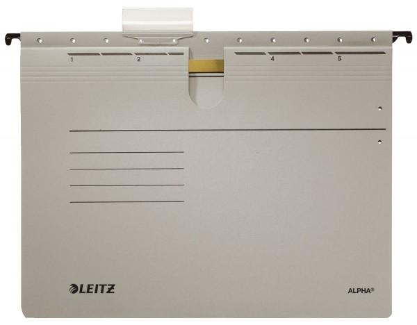 Leitz 1984 Hängehefter ALPHA® - kfm. Heftung, Recyclingkarton, grau