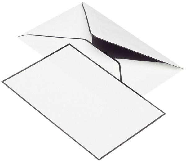 Rössler Papier Trauermappe Karten+Umschläge - DIN A6/C6, weiß, je 5 Stück