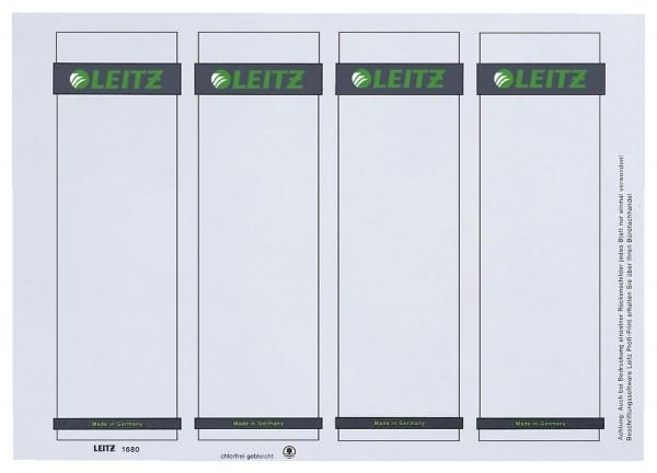 Leitz 1680 PC-beschriftbare Rückenschilder zum Einstecken - Karton, kurz/breit, 100 Stück, lichtgrau