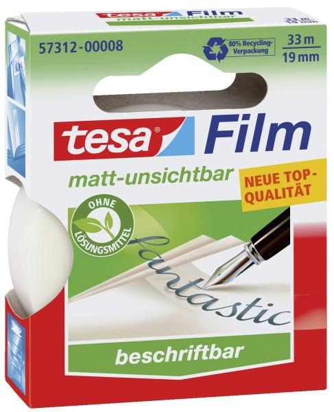 Tesa® Klebefilm matt-unsichtbar - beschriftbar, (L x B): 33 m x 19 mm