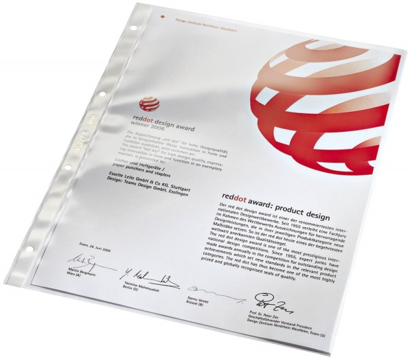 Leitz 4734 Prospekthülle Super Premium, A4, PVC, dokumentenecht, glasklar