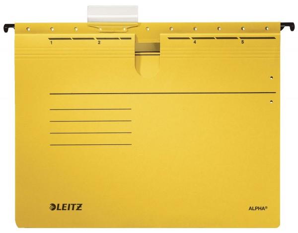 Leitz 1984 Hängehefter ALPHA® - kfm. Heftung, Recyclingkarton, gelb