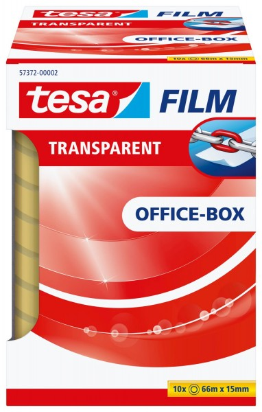 tesa® Klebefilm Office Box - transparent 10 St., Bandgröße (L x B): 66 m x 15 mm