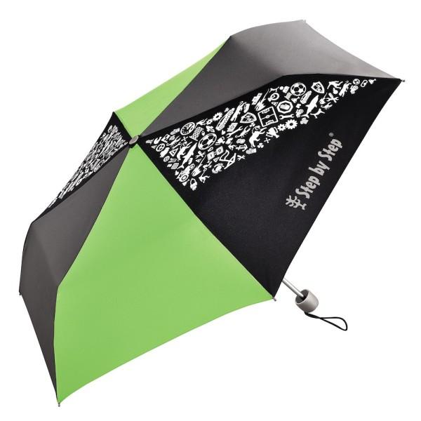 "Step by Step Regenschirm ""Green & Grey"", Magic Rain EFFECT"
