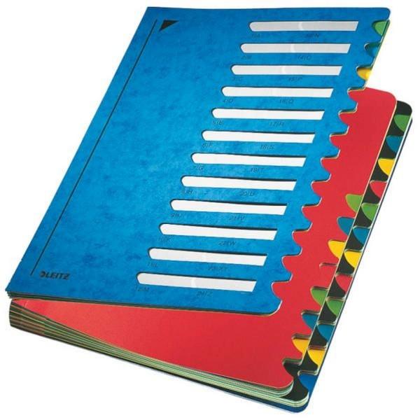 Leitz 5914 Deskorganizer Color 1-24 - 24 Fächer, Karton, blau