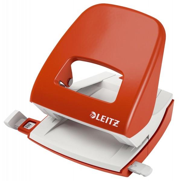 Leitz 5008 Bürolocher NeXXt, Metall, 30 Blatt, hellrot
