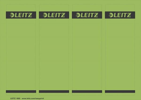 Leitz 1685 PC-beschriftbare Rückenschilder - Papier, kurz/breit,100 Stück, grün