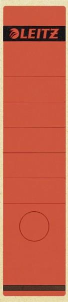 Leitz 1640 Rückenschilder - Papier, lang/breit, 10 Stück, rot
