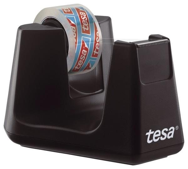 tesa® Tischabroller Smart ecoLogo® - inkl. 1 Rolle Klebefilm kristal-klar