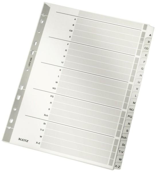 Leitz 4328 Register - A-Z, Karton, A4, 20 Blatt, grau