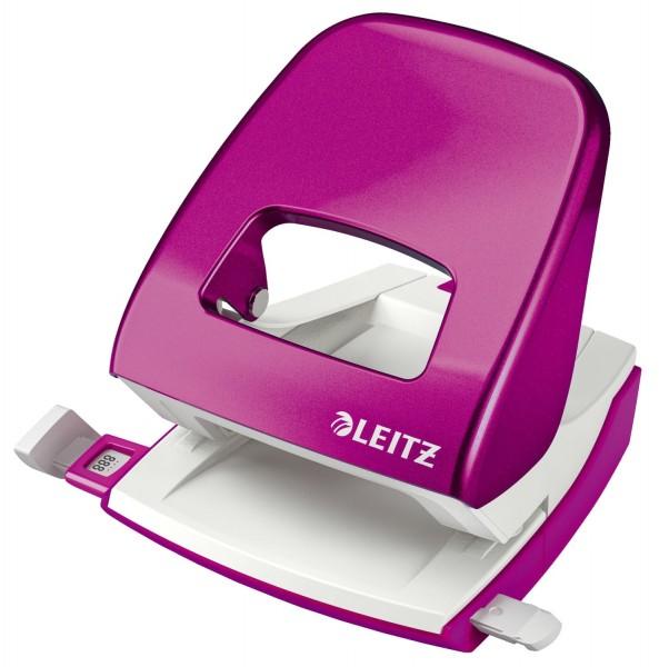 Leitz 5008 Bürolocher NeXXt, Metall, 30 Blatt, pink metallic