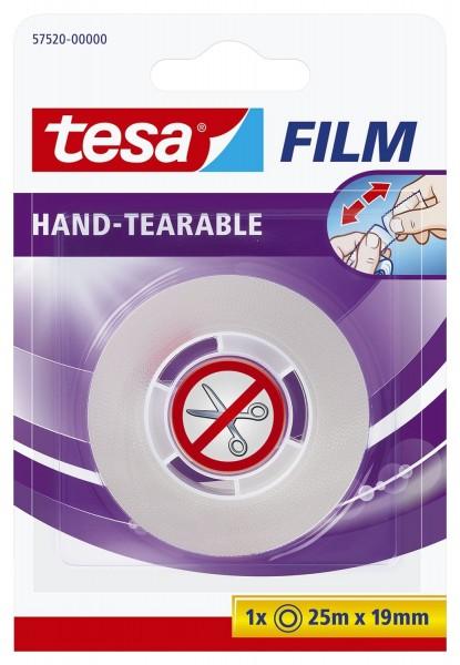 Tesa® Klebefilm - von Hand einreißbar, PP, unsichtbar, Bandgröße (L x B): 25 m x 19 mm