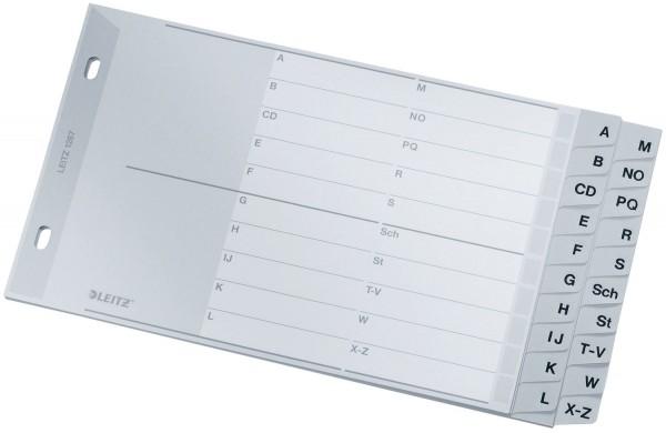 Leitz 1267 Register - A - Z, PP, A5 quer, 2 Abläufe, 20 Blatt, grau