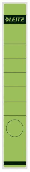 Leitz 1648 Rückenschilder - Papier, lang/schmal, 10 Stück, grün