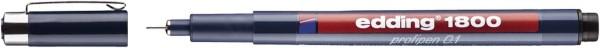 Edding 1800 Faserzeichner profipen - 0,25 mm, schwarz