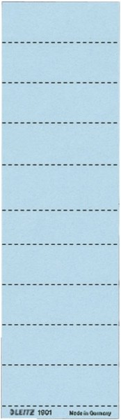 Leitz 1901 Blanko-Schildchen - Karton, 100 Stück, blau