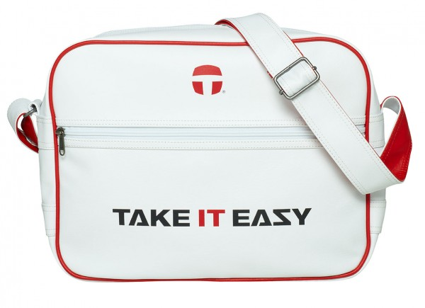 TAKE IT EASY Umhänger RETRO Bag weiss