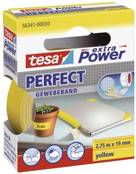 tesa® Gewebeklebeband extra Power Gewebeband, 2,75 m x 19 mm, gelb