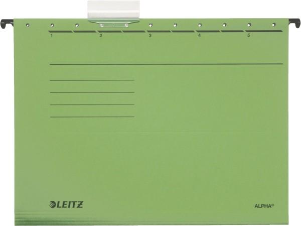 Leitz 1985 Hängemappe ALPHA® - Recyclingkarton, grün