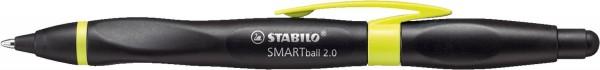 Stabilo® SMARTball® 2.0 - Kugelschreiber mit Touchscreen-Funktion, R, schwarz/kiwi