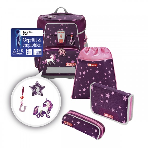 "Step by Step SPACE Schulranzen-Set ""Unicorn"", 5-teilig"
