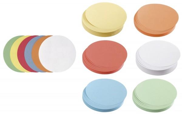 Franken Moderationskarte Kreis mittel, 140 mm, sortiert, 500 Stück