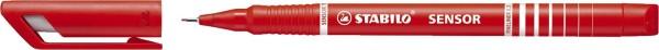 Stabilo® Fineliner sensor® - 0,3 mm, rot