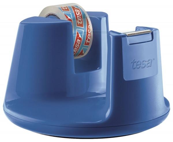 tesa® Tischabroller Easy Cut Compact - für Rollen bis 15 mm x 10 m, blau